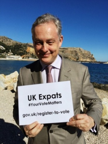 British Ambassador Simon Manley is urging expats who are eligible to register to vote in the EU Referendum.