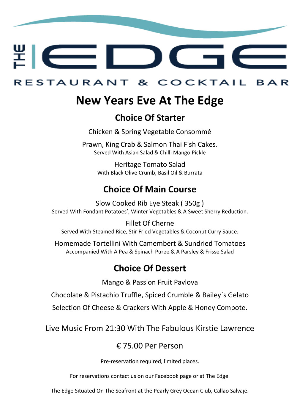 The Edge New Years Eve