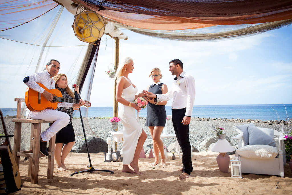 Barefoot Beach Wedding Tenerife